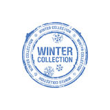 Winter collection stamp royalty free illustration