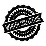 Winter collection stamp Royalty Free Stock Images