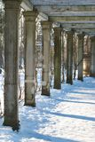 Winter colonnade Royalty Free Stock Photos