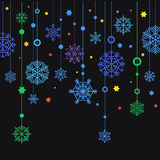 Winter color snowflakes Royalty Free Stock Images