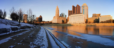 Winter in Columbus Royalty Free Stock Photo