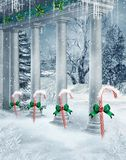 Winter columns Royalty Free Stock Photos