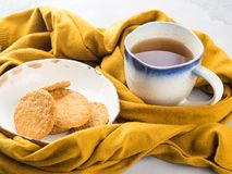 Winter comfort food concept with tea Royalty Free Stock Photo