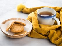 Winter comfort food concept with tea Royalty Free Stock Image