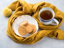 Winter comfort food concept with tea Stock Photography