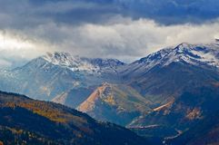 Winter coming. To Utah mountains royalty free stock images