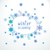 Winter is coming Stock Images