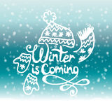 Winter is coming. Christmas Background. Stock Photos