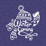 Winter is coming. Christmas Background. Royalty Free Stock Photo