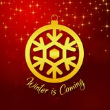 Winter is Coming Golden Winterball Vector Image Stock Photography
