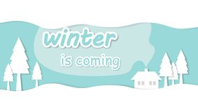 Winter is coming stock illustration