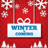 Winter is coming sale background. Stock Photo