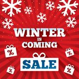 Winter is coming sale background. Stock Photos