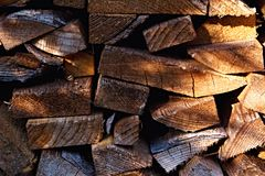The firewood - dry wood for heating. royalty free stock photos