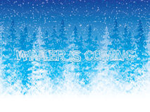 Winter is coming Royalty Free Stock Photo