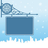 Winter concept frame Royalty Free Stock Images