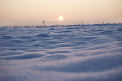 Winter conceptual image. Ice desert Royalty Free Stock Images