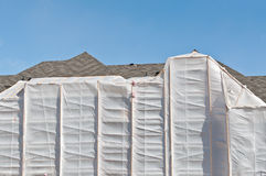 Winter Construction - Heated Enclosure Royalty Free Stock Image