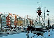 Winter in Copenhagen. Winter in Nyhavn, Copenhagen, Denmark Royalty Free Stock Photo
