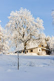 Winter cottage Stock Photography