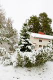 Winter cottage Royalty Free Stock Images