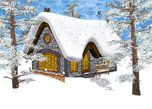 Winter Cottage Stock Image
