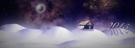 Winter Cottage House Royalty Free Stock Photo