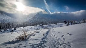 Winter cottages in the high mountains, Tatras Stock Photo