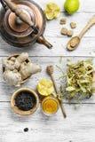Winter cough tea Stock Photos