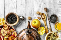 Winter cough tea Stock Image