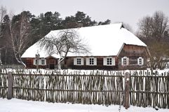 Winter country house Royalty Free Stock Image