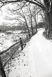 Winter Country Lane Stock Images