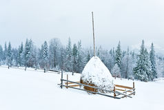 Winter country mountain landscape Royalty Free Stock Photography