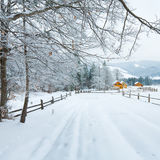 Winter country mountain landscape Stock Photography