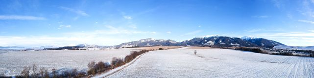 Winter country panorama Stock Image