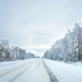 Winter country road Royalty Free Stock Images