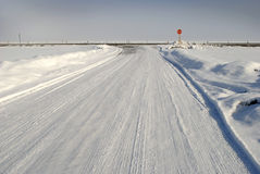 Winter Country Road Stock Photos