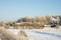 Winter countryside. Winter landscape of Russian countryside Stock Images
