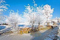 Winter in the countryside from Netherlands Stock Photography