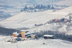 Winter countryside view in Italy. Royalty Free Stock Photos
