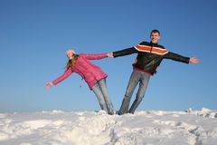 Winter couple Stock Photo