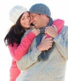 Winter couple Stock Photo