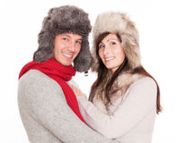 Winter couple Stock Image