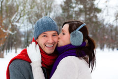 Winter couple Royalty Free Stock Photo