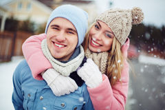 Winter couple Royalty Free Stock Image