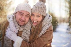 Winter couple Stock Photography