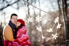 Winter couple Stock Image