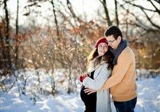 Winter couple Royalty Free Stock Photos