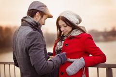 Winter couple Royalty Free Stock Images