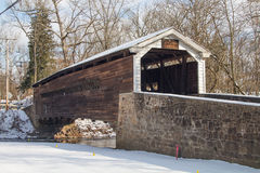 Winter Covered Bridge Royalty Free Stock Photos